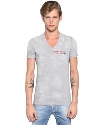 DSquared Cotton Blend Jersey V Neck T Shirt