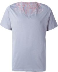 Felted print t shirt medium 600318
