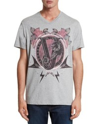 Versace Jeans Graphic V Neck T Shirt