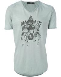 Printed v neck t shirt medium 273908