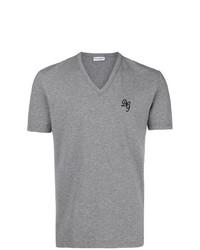 846c61796a89 Grey Print V-neck T-shirts for Men   Men s Fashion