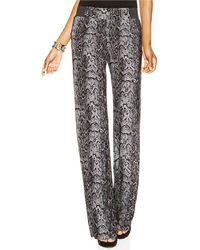 Petite wide leg snakeskin print pants medium 18122