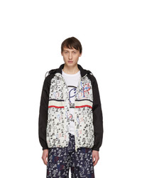 Moncler 2 1952 White And Black Allos Jacket