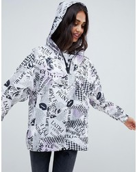 ASOS DESIGN Pop Art Mono Overhead Jacket