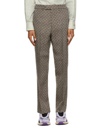 Gucci Beige Brown Multi G Trousers