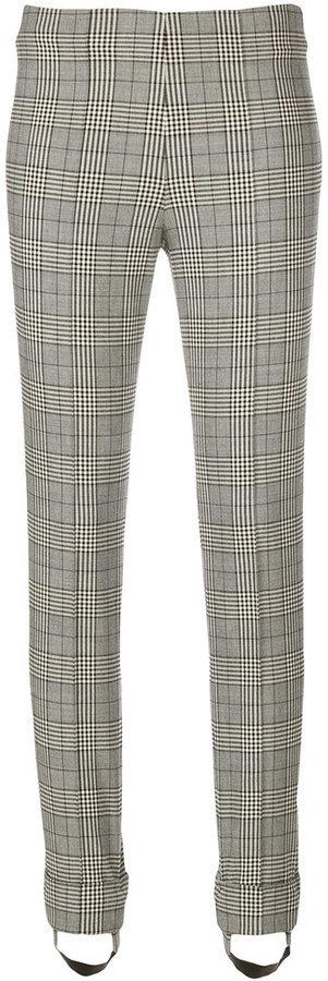 Ermanno Scervino Plaid Print Skinny Trousers
