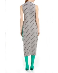 Balenciaga Rib Knit Wrap Dress