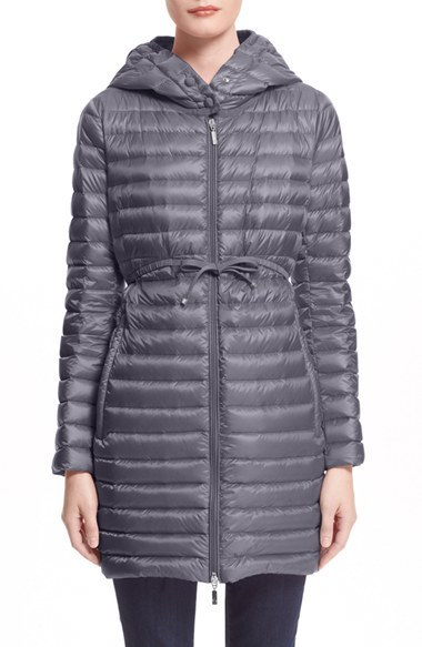 ... Moncler Barbel Water Resistant Long Hooded Down Jacket ...
