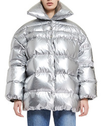 Off-White Co Virgil Abloh Quilted Nylon Puffer Coat