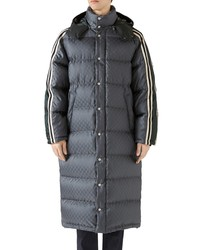 Gucci Gg Jacquard Quilted Down Nylon Coat