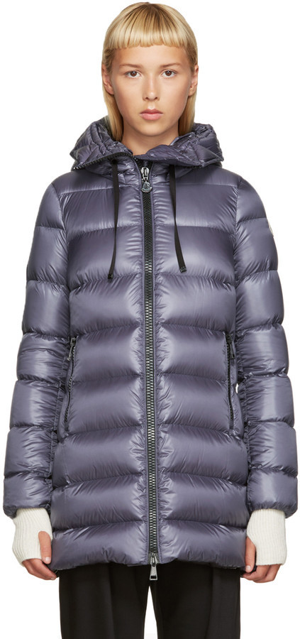 ... Moncler Grey Down Suyen Coat ...