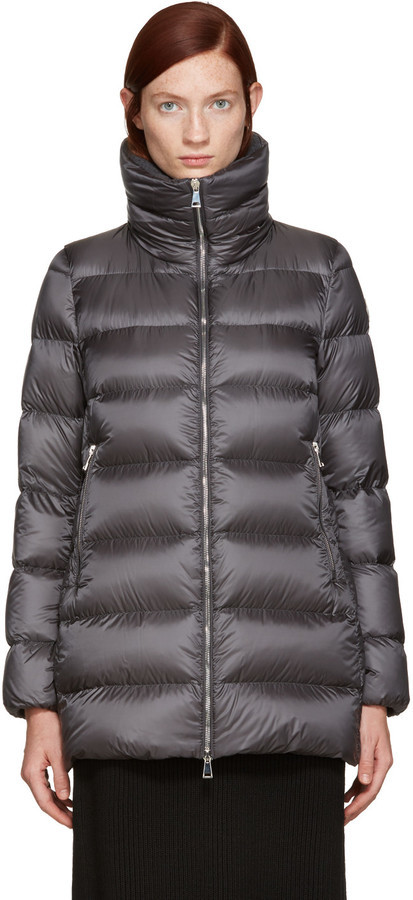 ... Moncler Moncler Grey Down Torcyn Coat