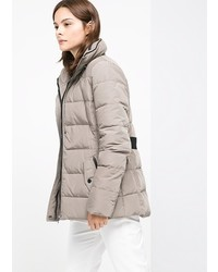 Mango Outlet Belted Feather Down Coat