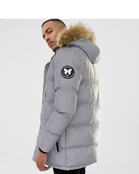 Good For Nothing Parka Coat In Reflective To Asos