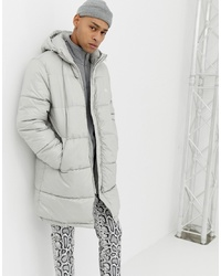 Cheap Monday Puffer Jacket In Grey
