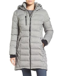 Quilted hooded puffer coat medium 757576