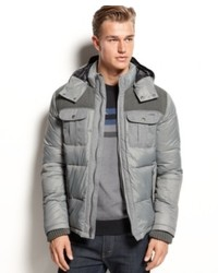Calvin Klein Jacket Macys Mixed Media Puffer Jacket