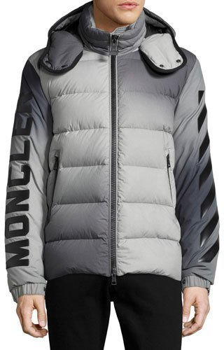 ... Grey Puffer Jackets Moncler Enclos Ombr Hooded Puffer Jacket Gray ...