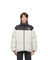 Vetements Grey And Black Down Puffer Jacket