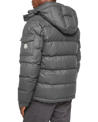 ... Moncler Montgenevre Quilted Down Jacket Gray