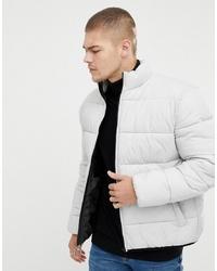 ASOS DESIGN Puffer Jacket In Grey