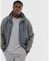 Esprit Quilted Body Jacket In Grey