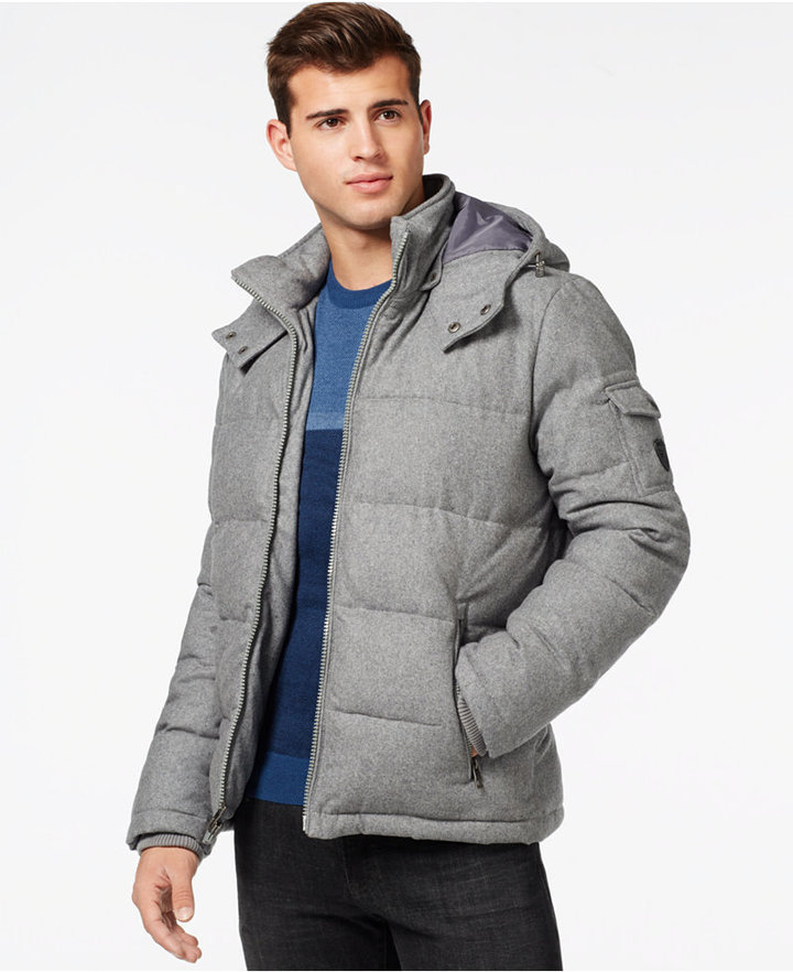 8ebc7693e0d6 GUESS Quilted Down Filled Jacket With Removable Hood