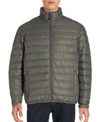 Saks Fifth Avenue Packable Filled Stand Collar Puffer Jacket