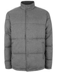 Topman Grey Textured Puffer Jacket