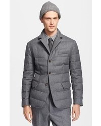 Grey Quilted Blazers for Men | Men's Fashion : quilted blazer - Adamdwight.com