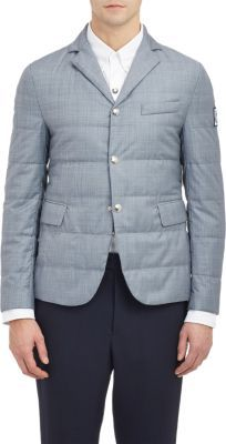 ... Moncler Gamme Bleu Quilted Twill Jacket Grey