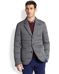 Moncler Gamme Bleu Quilted Twill Jacket Grey | Where to buy & how ... : mens quilted sport coat - Adamdwight.com