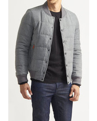 American Stitch Quilted Bomber Jacket