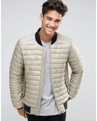 bbee367f9 Men's Grey Quilted Bomber Jackets from Asos   Men's Fashion ...