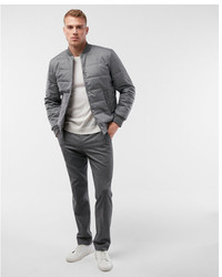 Express Textured Filled Bomber Jacket