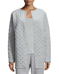 Joan Vass Quilted Velour Topper Jacket