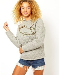Asos Collection Sweatshirt With Quilted Eagle Applique
