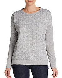 Quilt front sweatshirt medium 119036