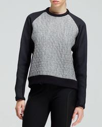 Rag & Bone Flight Quilted Raglan Sweatshirt