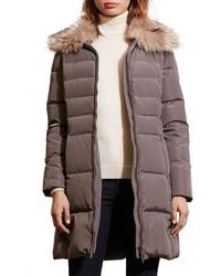 Lauren Ralph Lauren Quilted Faux Fur Collar Coat