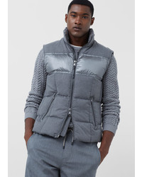 Mango Man Paneled Quilted Gilet