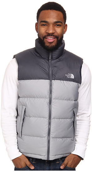 b13d4dbc6c ... Grey Quilted Gilets The North Face Nuptse Vest ...