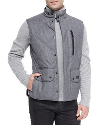 Quilted flannel vest gray medium 390113