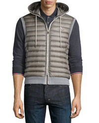 Moncler Quilted Nylon Front Vest Gray