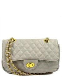 Kathie Fashion Paige Quilted Shoulder Bag Grey