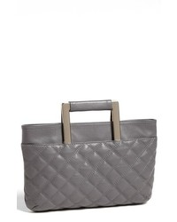 Trouve Convertible Leather Clutch Grey Kitten