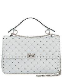 Rockstud large quilted shoulder bag medium 950239