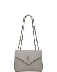 Saint Laurent Grey Small Loulou Bag