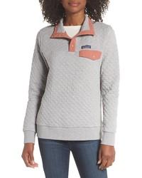 Grey Quilted Sweatshirt