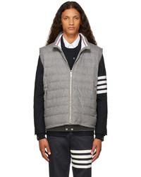 Thom Browne Grey Down Boiled Wool Ski Vest